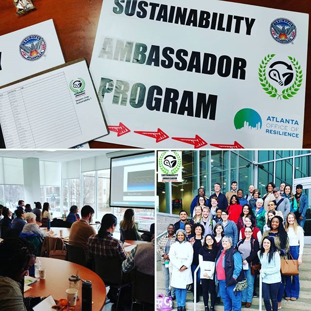 "#Today was the kick-off of our inaugural Sustainability Ambassador Program, where we had a full house, on this rainy day, to talk #Sustainability 101! Next week, we meet again to hear from Waste Diversion & Recycling Director, Michelle Wiseman, as she delves into ""How Recycling ♻ Works."""