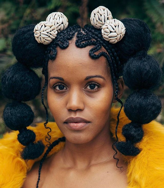 Photo courtesy of Justin Hardiman for Saint Heron.  Crown by Shani Crowe.