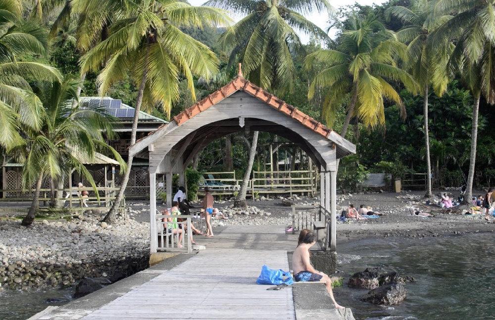 Anse Noir, a black sand beach, was my best experience by far.
