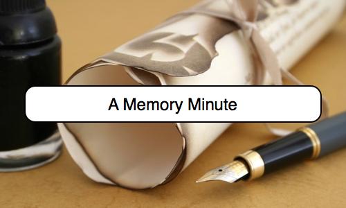 Memory Minute