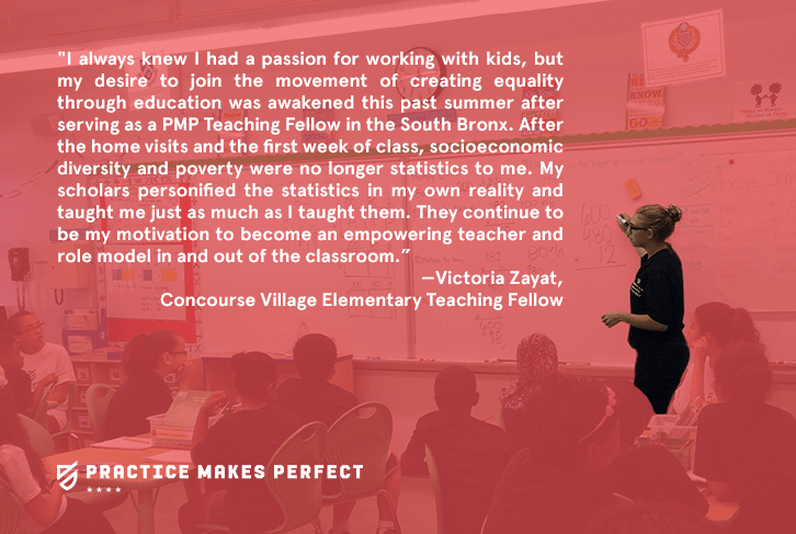 Victoria Zayat, Concourse Village Elementary Teaching Fellow
