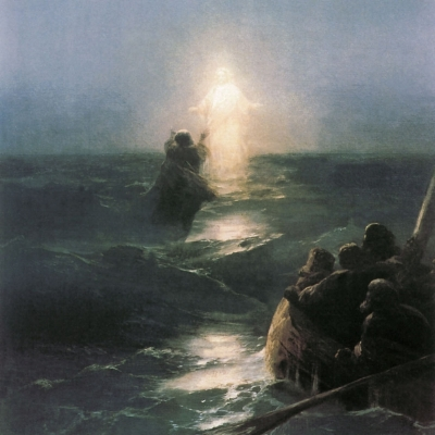 Ivan Aivazovsky's painting ''Walking on Water''