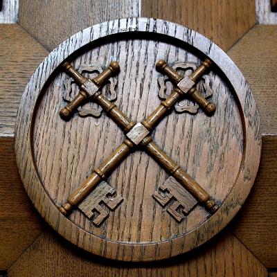 Saint Catharine of Siena Church (Columbus, Ohio) - confessional, Keys of Peter by Nheyob
