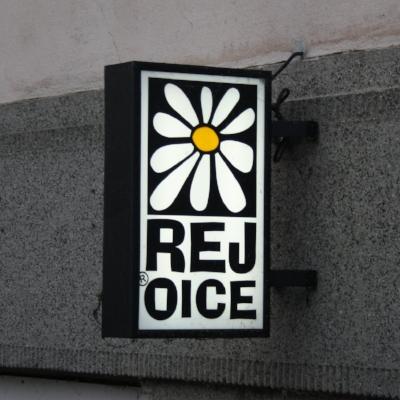 Rejoice shop logo in Třebíč, Czech Republic, by Frettie
