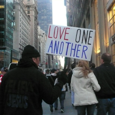 "Image: ""Love One Another"" by  Paloma Baytelman"