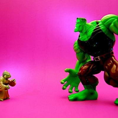 """Image:  JD Hancock  """"Yoda vs. Hulk"""""""