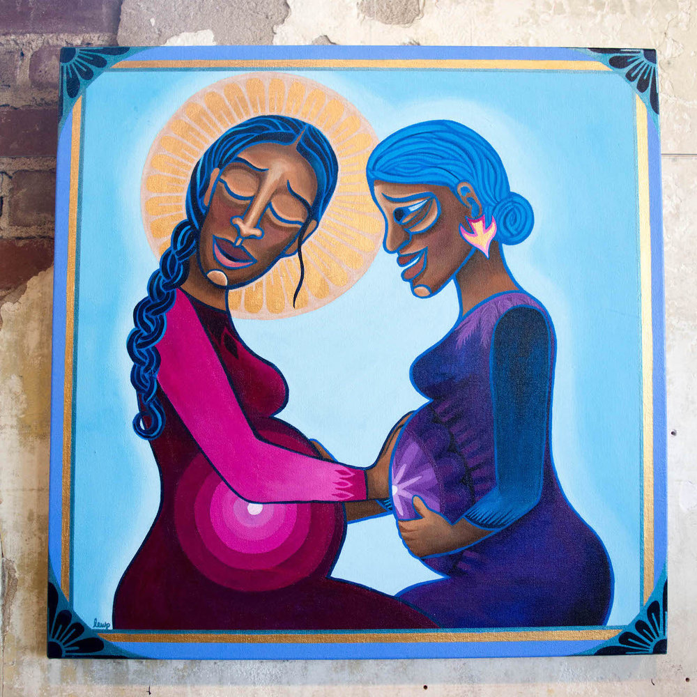 "Mary & Elizabeth   by Lauren Wright Pittman available at ""A Sanctified Art"""