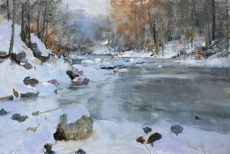 """""""An Early Freeze"""" 24x36 Oil On Panel (2-Hour Plein Air Start)"""