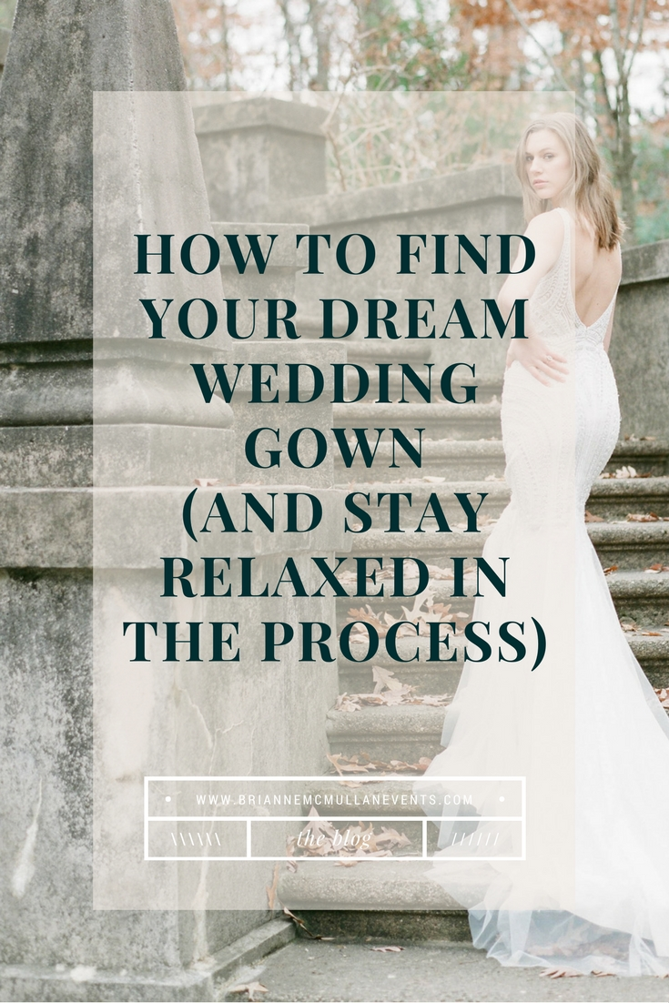 Finding your wedding gown Brianne McMullan Events