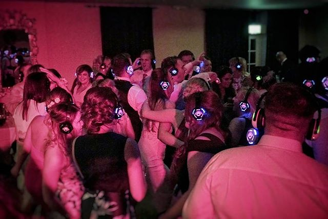 Silent disco at glenskirlie. The best/worst singing we have ever heard 😂
