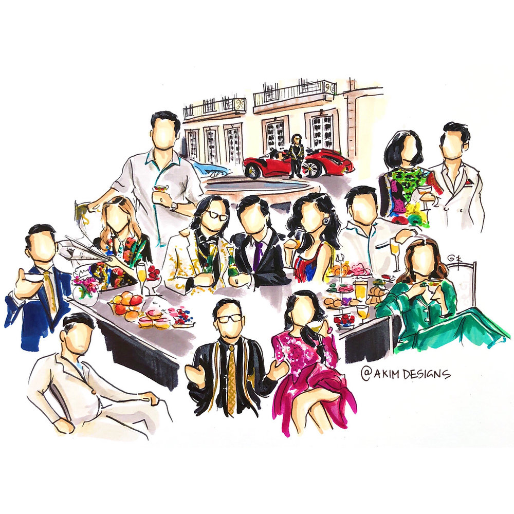 Crazy Rich Asians  Illustration by Alex Kim // @akimdesigns