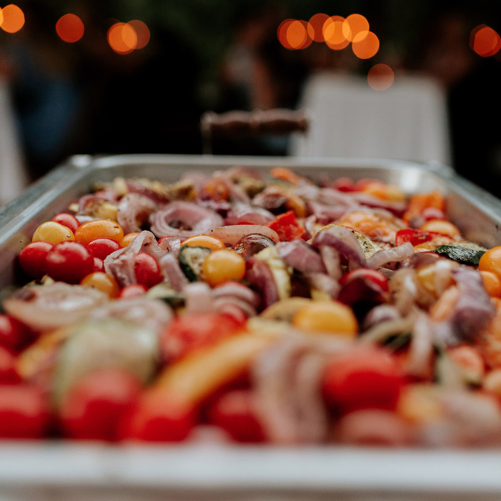 Mixed vegetables at the Mary Grace and Judd Kennedy wedding.