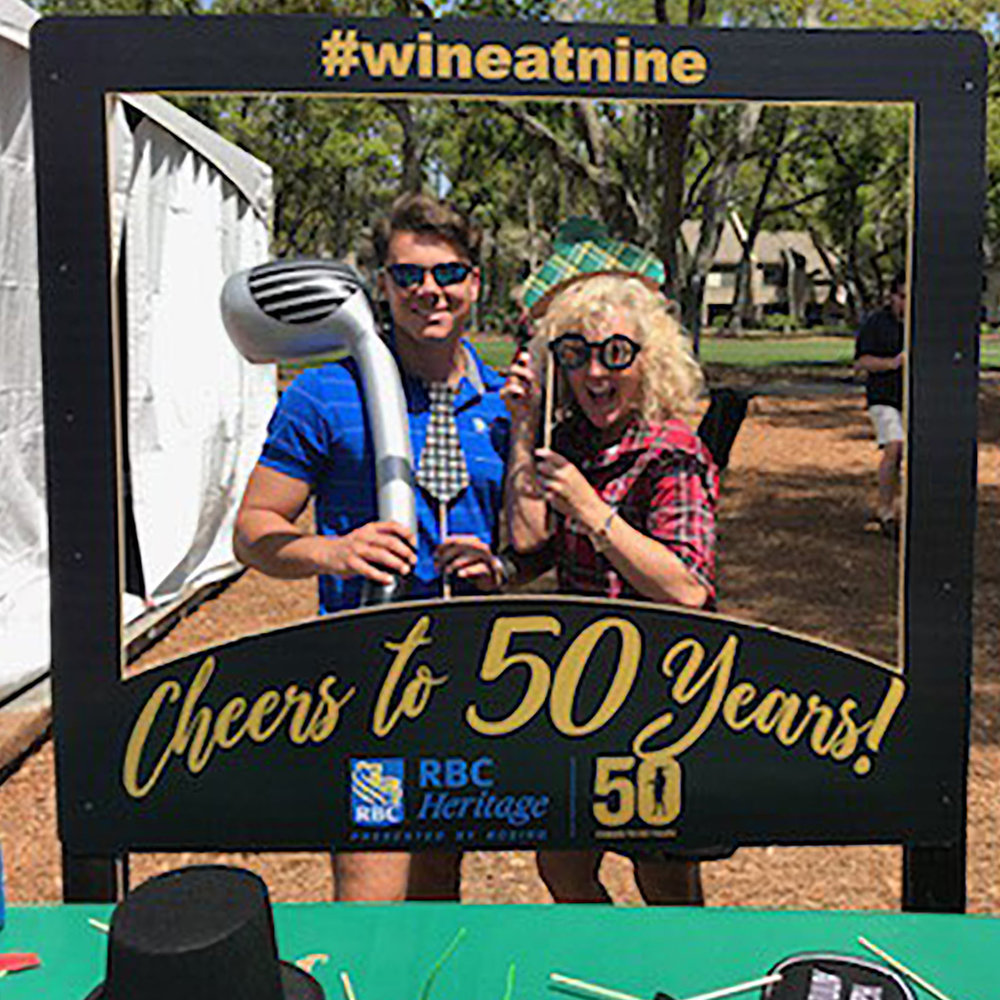 Photo booth at the RBC Heritage, Harbor Town Golf Links in Hilton Head, Georgia.