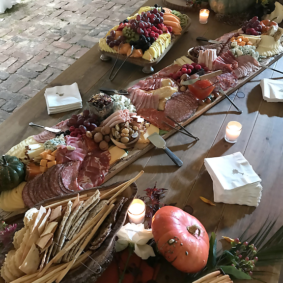 Charcuterie at the Pearls to Pluff Mud, Event at Swamp Fox Farms in Hardeeville, SC.