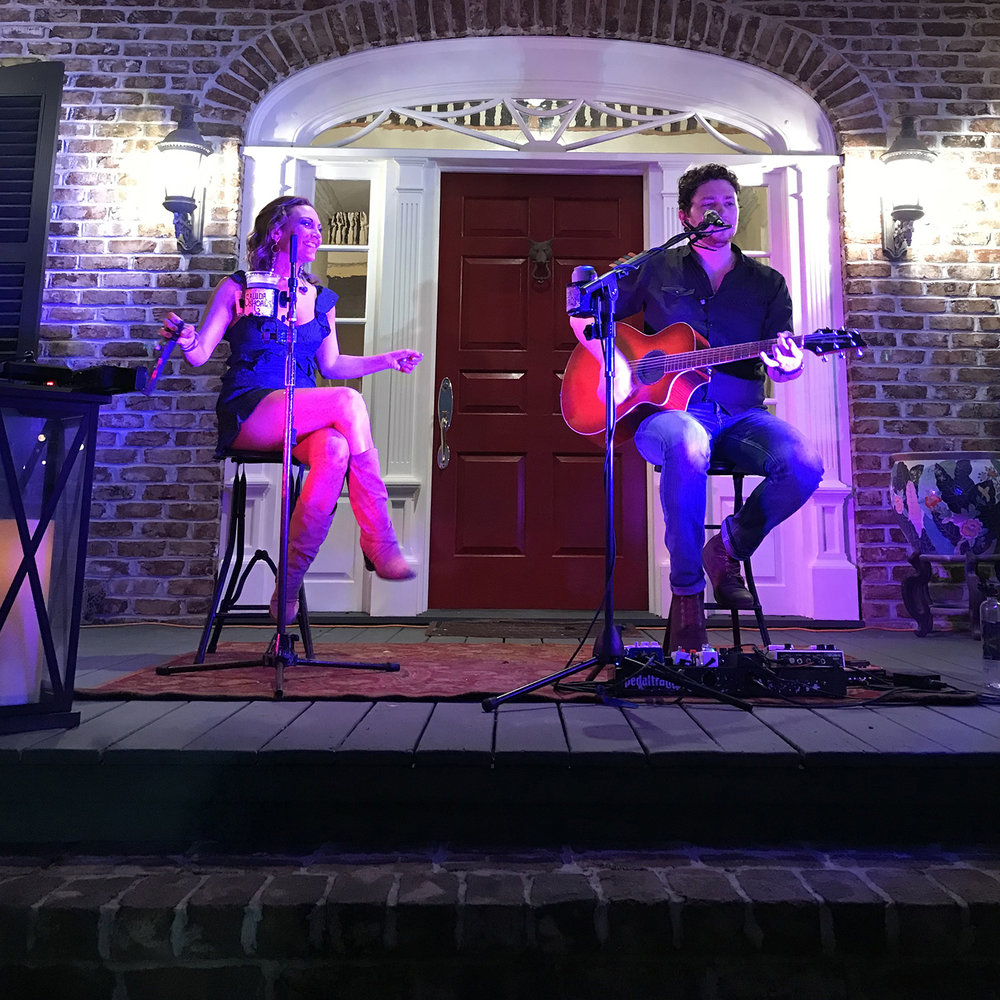 Live music at the Pearls to Pluff Mud Event at Swamp Fox Farms in Hardeeville, SC.