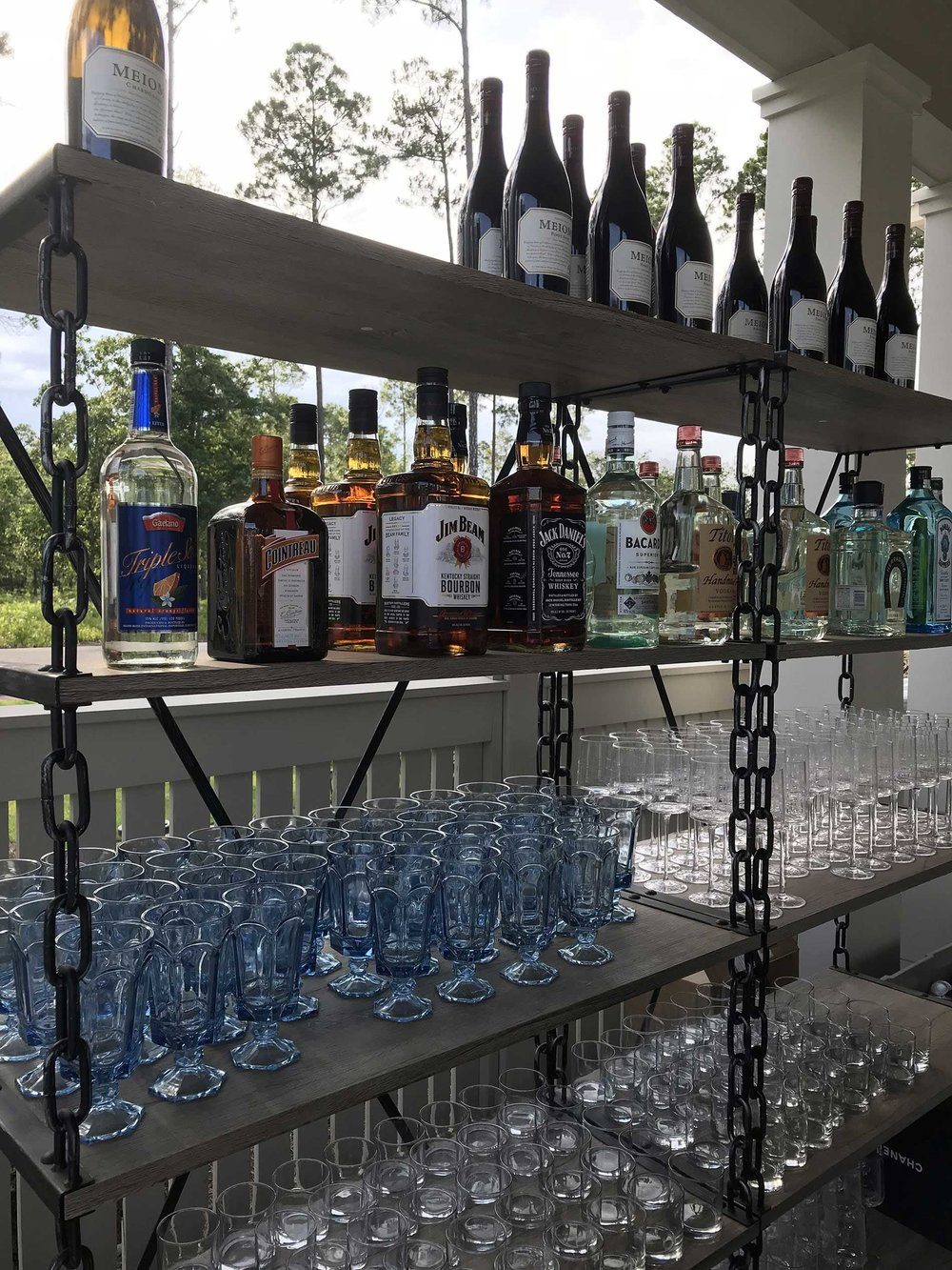 Bar at Larry's 50th Birthday Party, Palmetto Bluff, SC.