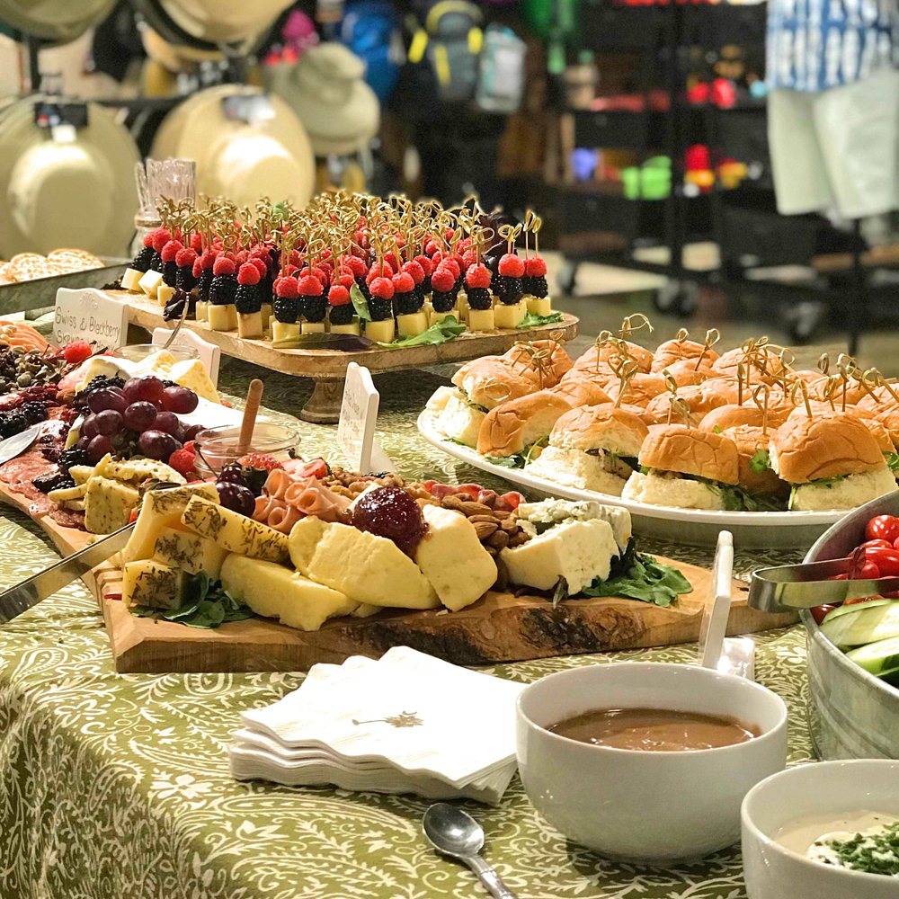 Table spread at Moreland Artisan Social, Outside Hilton Head, SC.