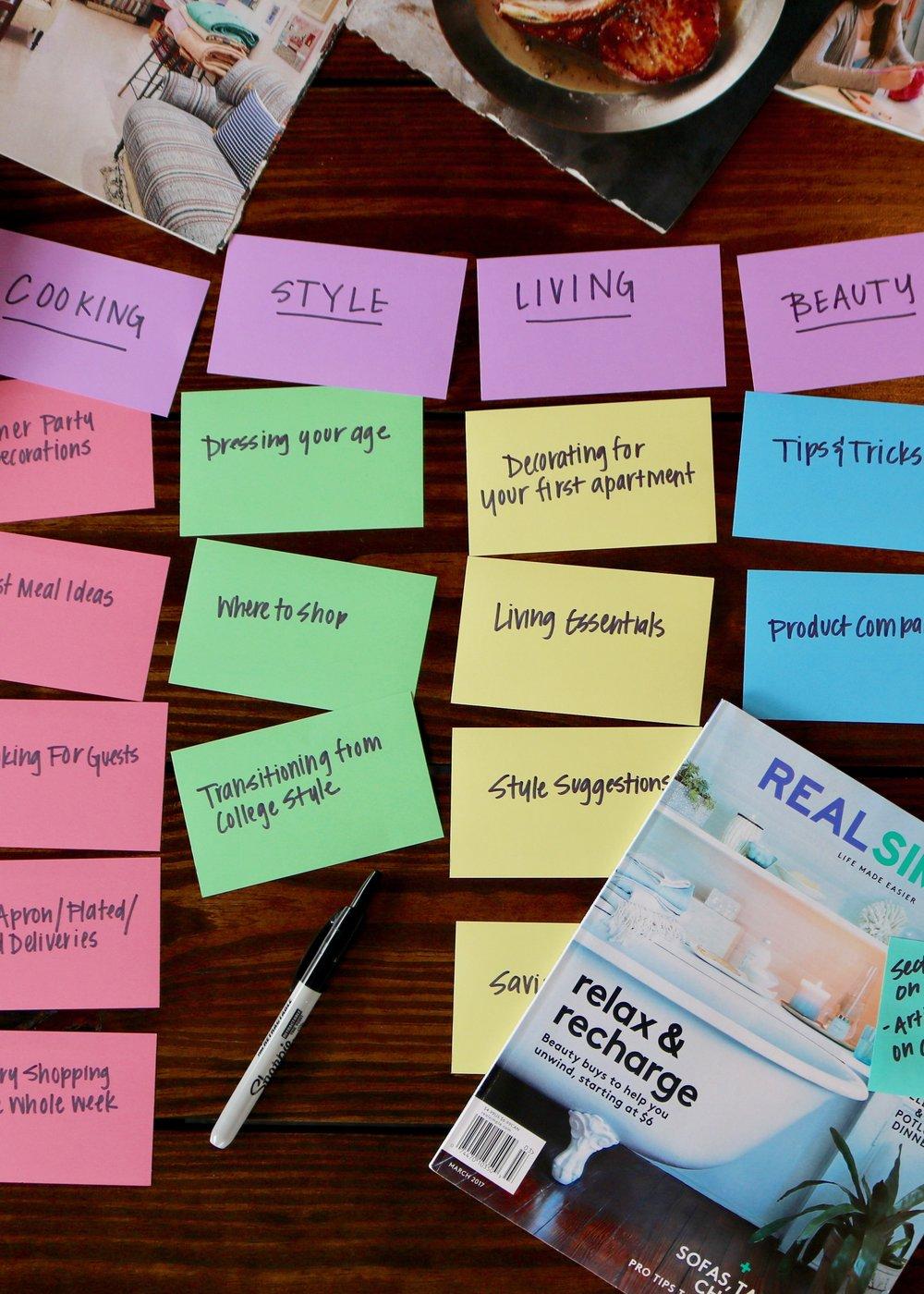 Brainstorm Content -