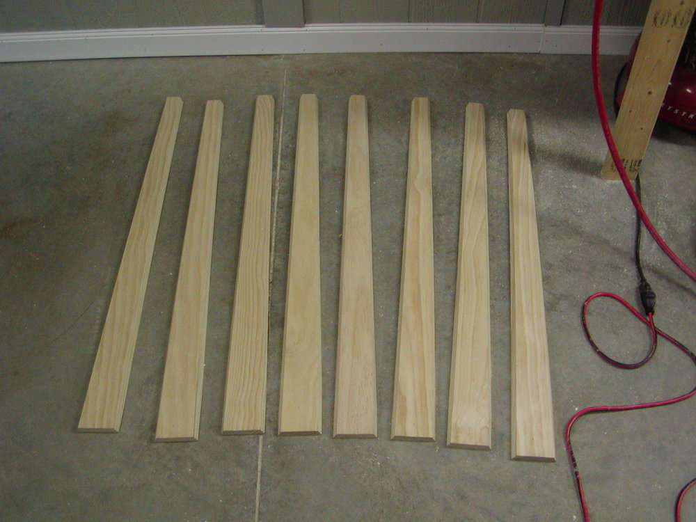 Eight tapered slats