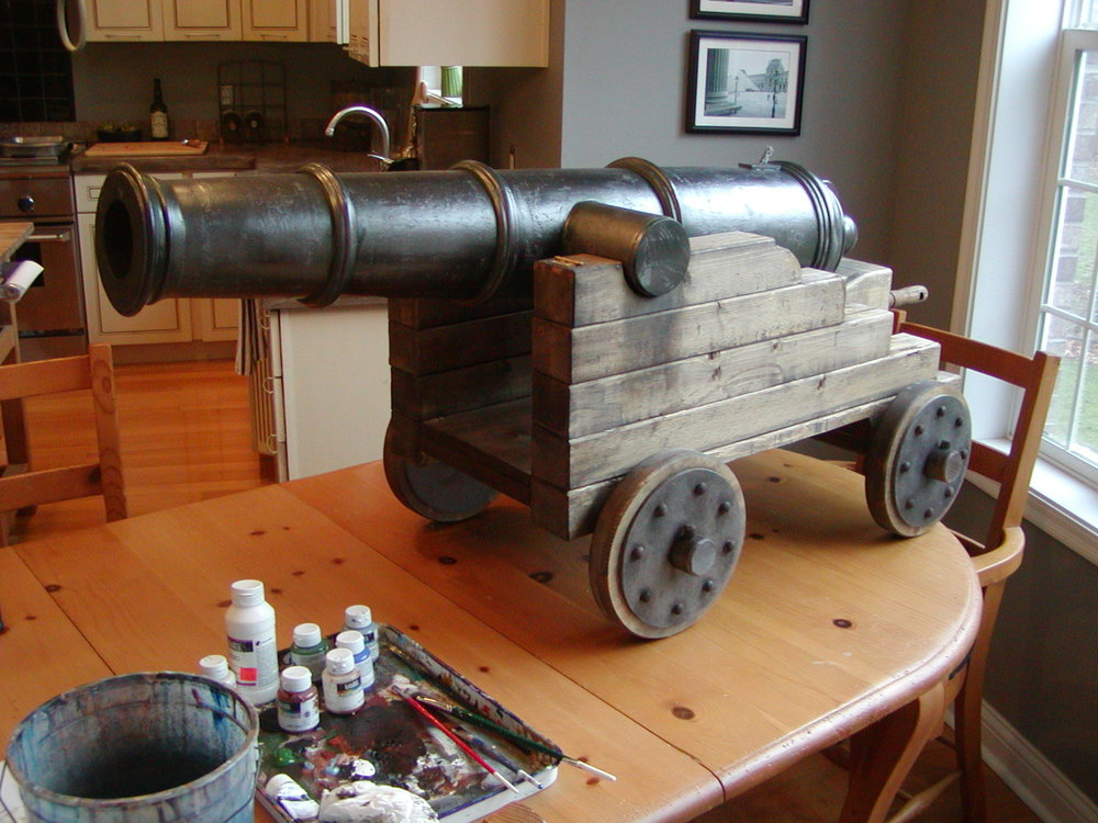 Finishing the cannon