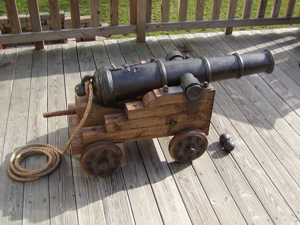 The finished cannon
