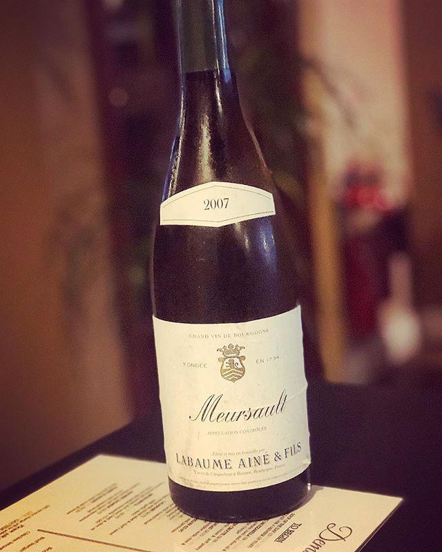 WINE SPECIAL 🍷  _____________________________________ Meursault 2007 • • • • #winewednesday #winelover #wine🍷 #demscanterbury #canterbury #kent @pageandsonswinemerchants