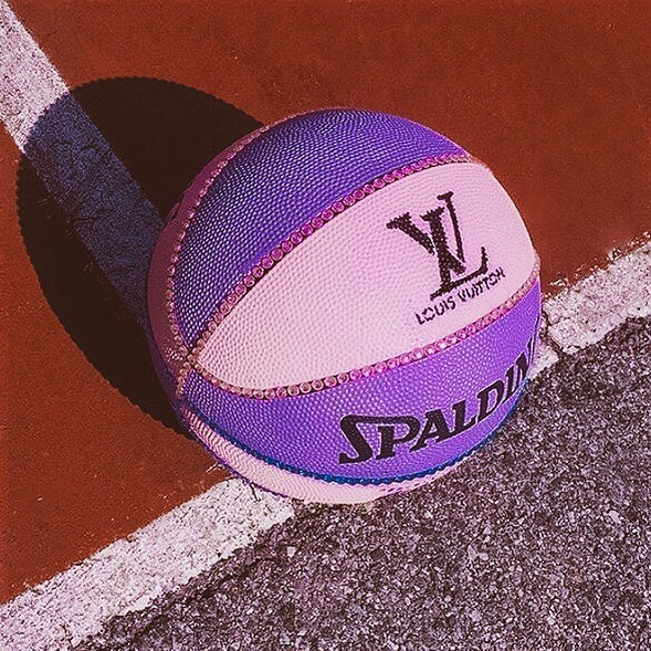 Louis Vuitton basketball? Put us in the game coach 💜🏀