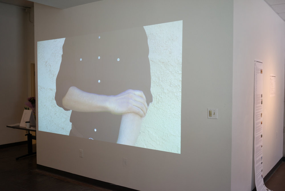 Installation view of video piece  Ready to Work