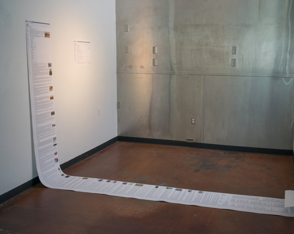 Installation view of  Cowboy/Cowgirl Wikipedia