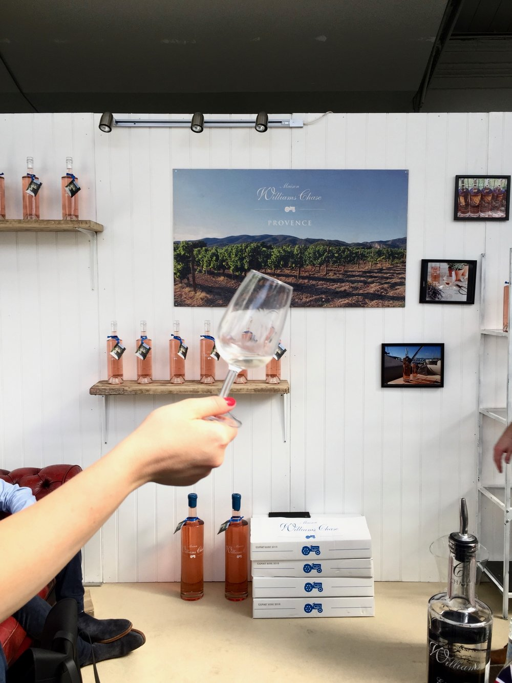 Bottle Bitches drink Williams Chase 2014 Papillon Constantin Blanc at London Wine Fair 2017.jpg