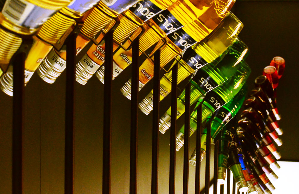 Bottle Bitches visit House of Bols in Amsterdam - colourful bottles-sculpture.jpg