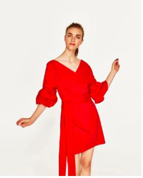 Bell Sleeve Red Dress