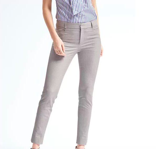 Gray Skinny Fit Pants