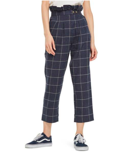 Navy blue high wasted pants