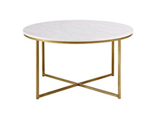 White Marble Top Coffee Table