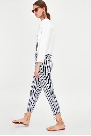 striped pants zara