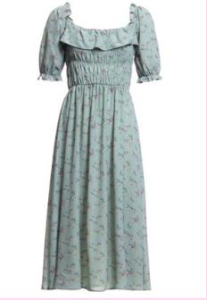 Mint Green Off Shoulder Peasant Dress