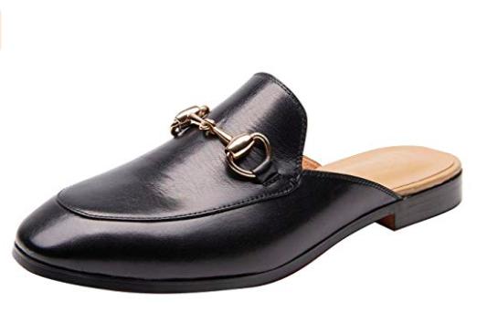 Black Slide loafers