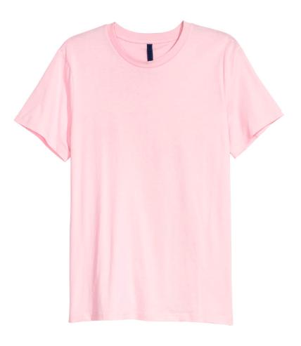 Round-necked T-Shirt in Pink