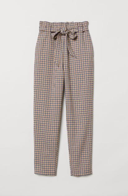 Check Paperwaist pants
