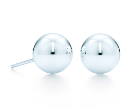 Tiffany Sterling Ball Earrings