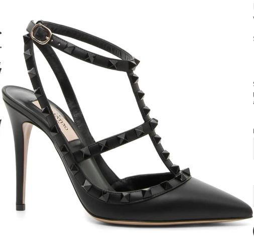 Valentino Garavani Rockstud Noir Heels