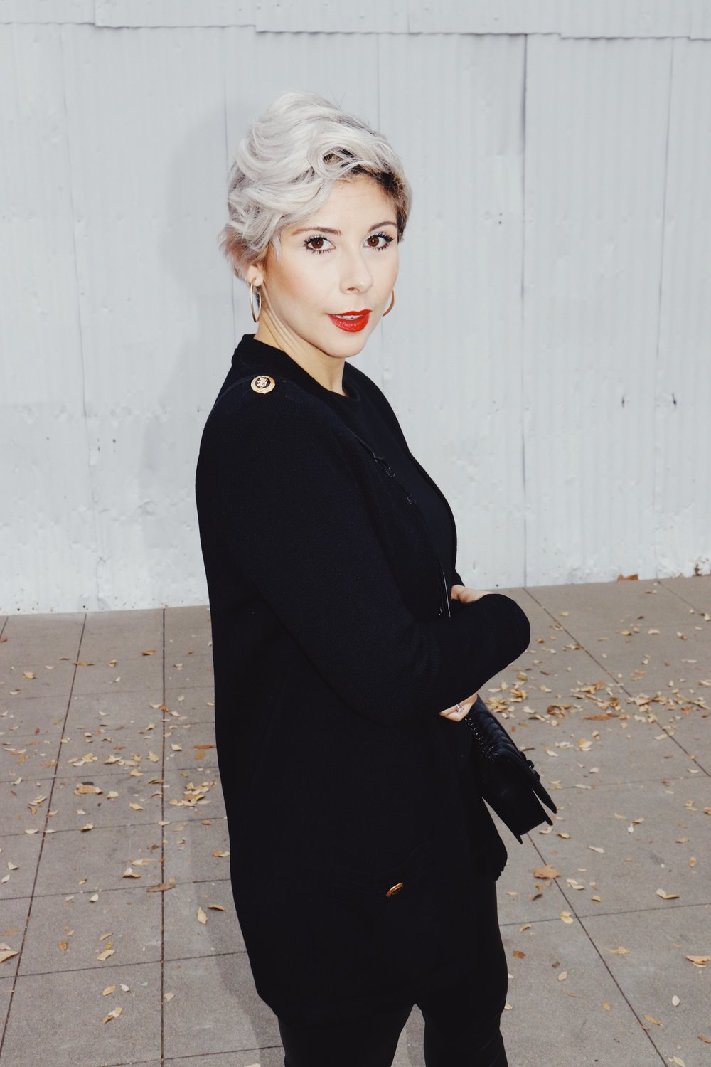 63174387f21e9 Holiday Outfit Inspiration | All Black & A Pop Of Gold — beauty tips ...