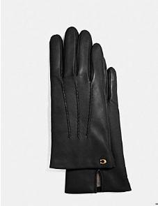 Women's Black Leather Gloves