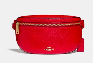 Red Coach belt bag