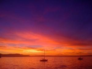 sunset over bellingham bay