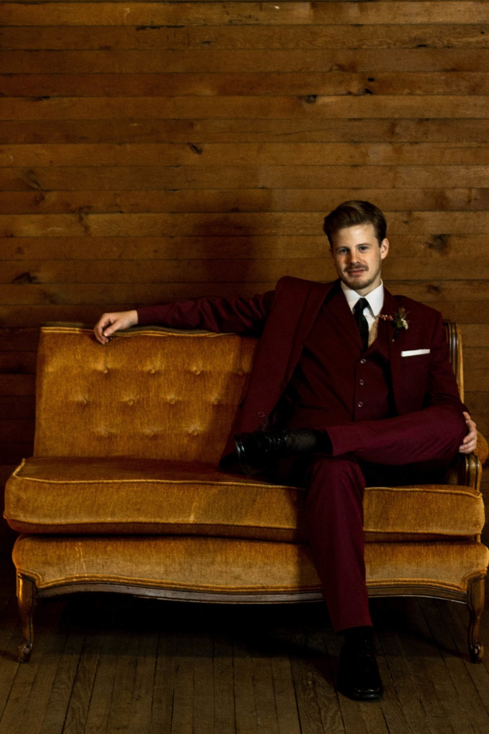 Blushing Burgundy Three Piece Suit