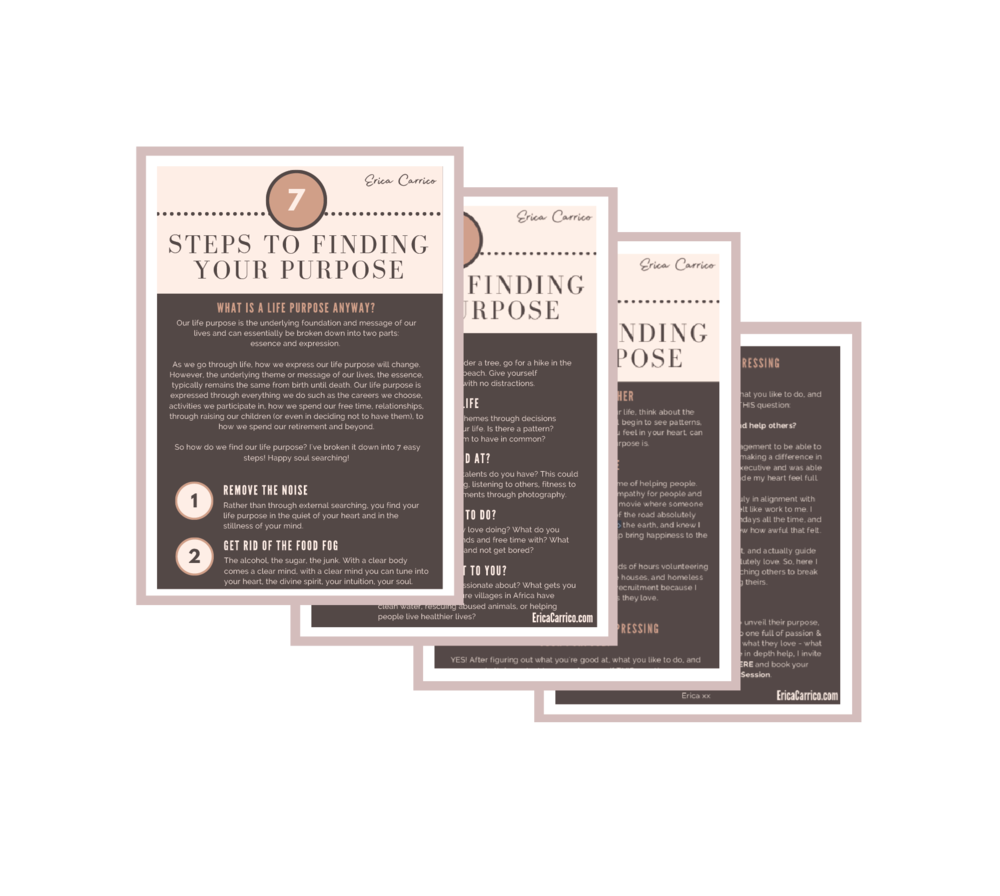 FREE DOWNLOAD - 7 Steps To Finding Your Purpose - grab your guide below!