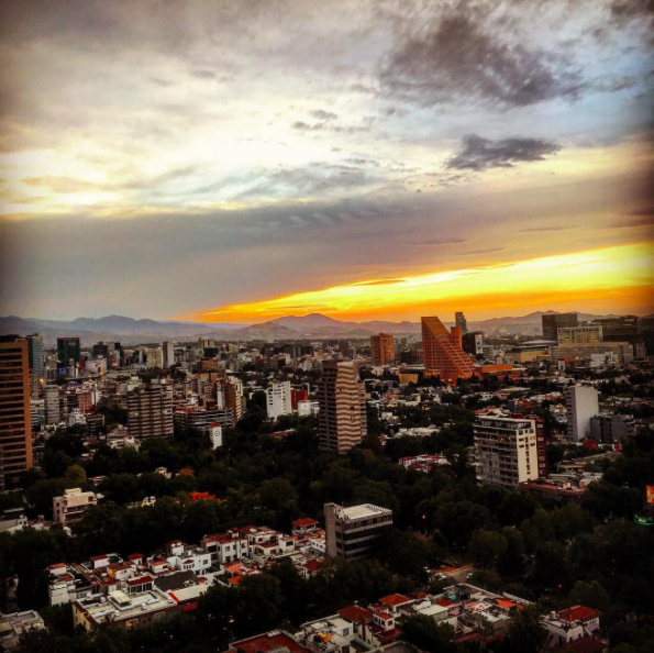 Vista da Cidade do México do hotel.