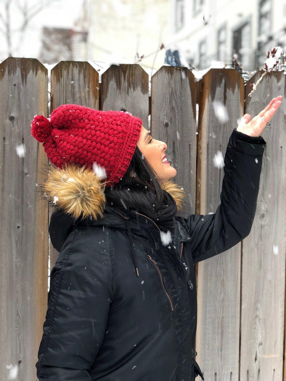 Brancando na última tempestade de neve!